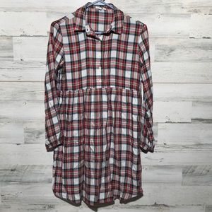 Gap girls XL plaid baby doll style tunic dress